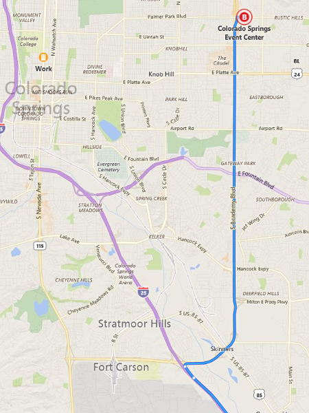 Directions to the Colorado Springs Coin, Currency, and Collectibles Show
