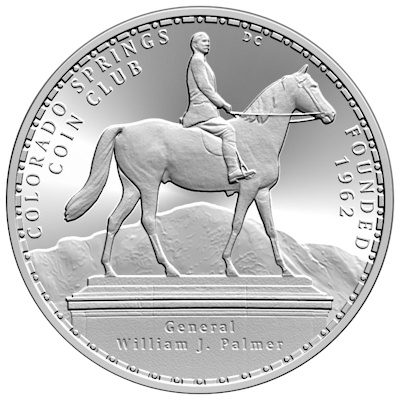 Colorado Springs 50th Anniversary Medal Obverse